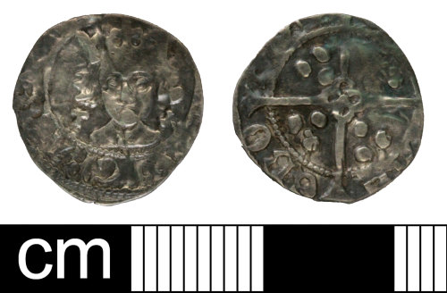 SOM-C659F2: Medieval coin: penny issued for Henry VII