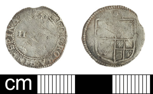 SOM-CD99C2: Post-Medieval coin: halfgroat of James I