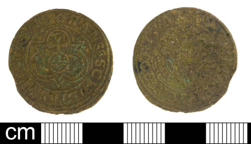 SOM-D5B912: Post medieval jetton of Hans Schultes III