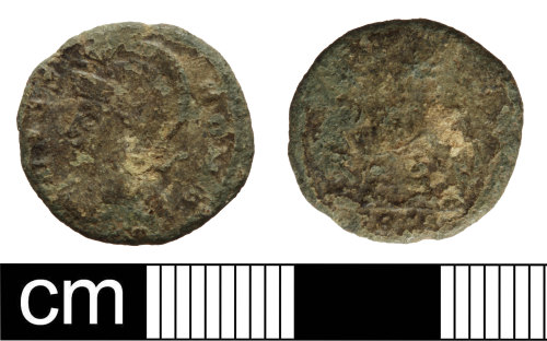 SOM-D87A37: Roman coin: nummus of the House of Constantine