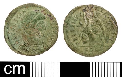 SOM-D94621: Roman coin: nummus of Constantius II