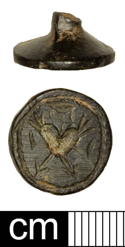 SOMDOR239: Post-Medieval multi-armed seal matrix fragment