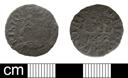 SOM-EC91CF: Post Medieval token: farthing issued by the City of Bristol