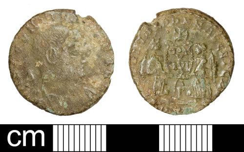 SOM-EE635A: Roman coin: nummus of Decentius