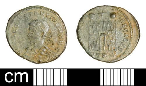 SOM-EF297C: Roman coin: nummus of Constantius II