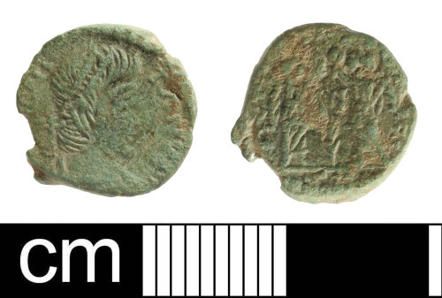 SOM-F41A68: Roman coin: contemporary copy of a nummus of the House of Constantine