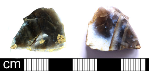 SOM-F5E493: Mesolithic to Neolithic retouched flint flake