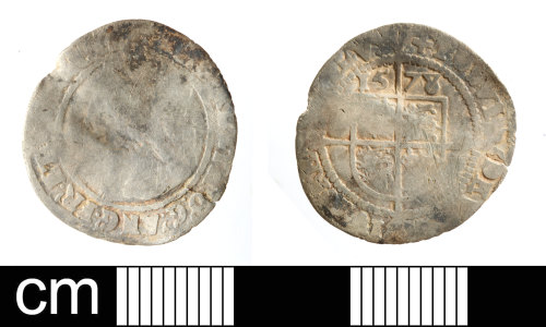 SOM-F94E08: Post Medieval coin: threepence of Elizabeth I