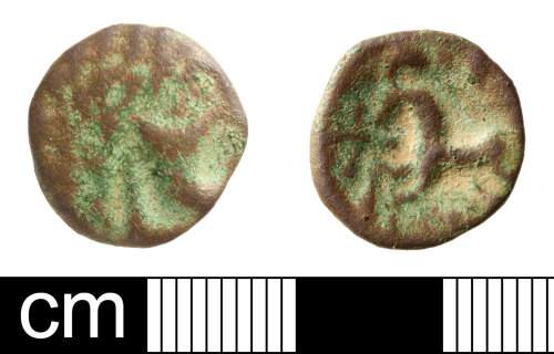 SOM-F9F2C3: Iron Age coin: unit of unclear, possibly Southern rukler