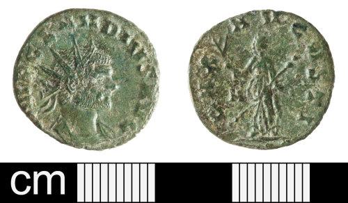 SOM-FC6DEC: Roman coin: radiate of Claudius II