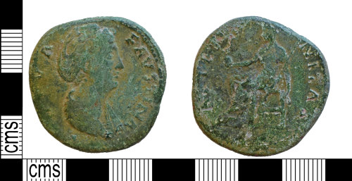 NARC-159386: NARC-159386 : Sestertius : Deified Faustina I