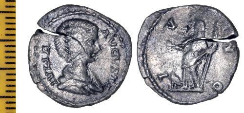 ESS-97AA05: Roman Coin : Denarius of Julia Domna