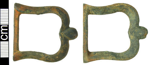 HAMP-D930D1: Post-medieval  single looped buckle