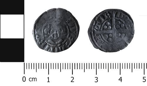 HESH-22C0C2: Medieval Coin: Contemporary imitation of Edwardian penny