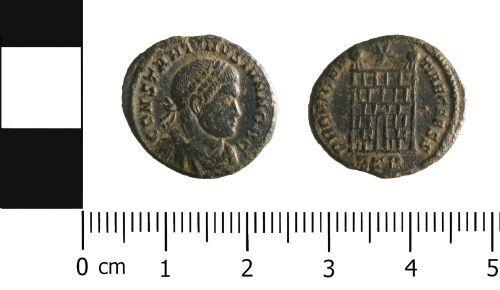 WAW-D5E614: Roman Coin: Nummus belonging to Constantine II
