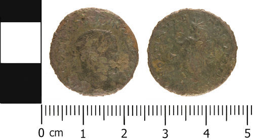WMID-4F7C63: Roman Coin: Nummus of the House of Constantine