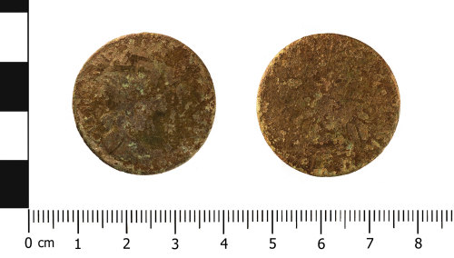 WMID-E0B97B: Post Medieval coin; half penny of William and Mary