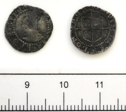 DUR-BA4136: Coin: Penny of Elizabeth I