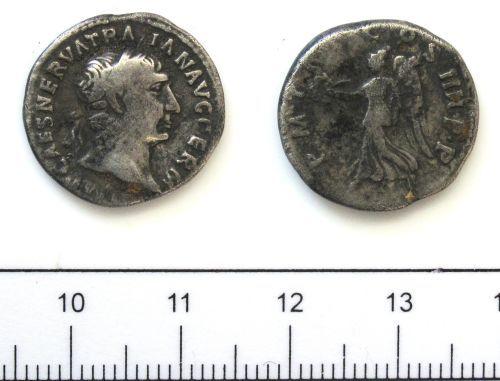 DUR-C5A014: Coin: Denarius of Trajan