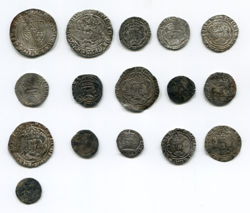 DUR-F70208: Coin Hoard: Medieval to Post Medieval obverses