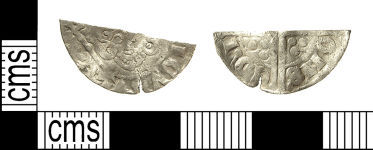 A resized image of IOW-0F9FF6 Medieval Coin: Cut Halfpenny of Henry III