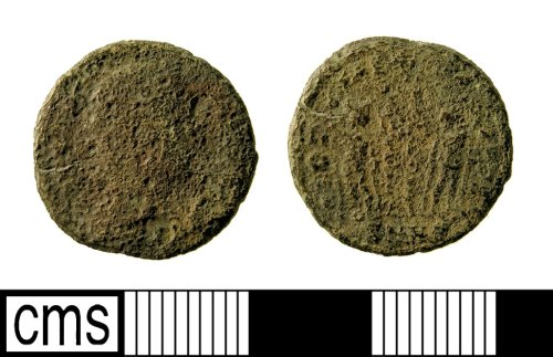 IOW-E4BBD3: Roman Coin: Nummus of the House of Constantine. Mint of ?Nicomedia