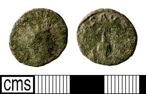 IOW-E89B34: Roman Coin: Radiate of Tetricus II. Gallic Mint