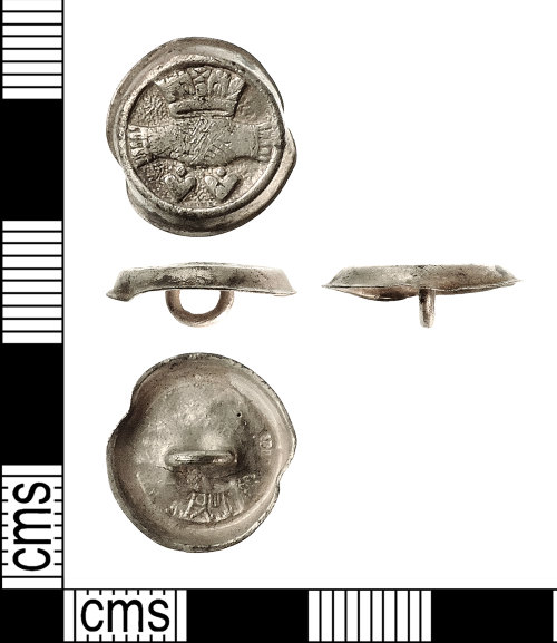 IOW-AC6FD2: Post-Medieval Cufflink Element. Treasure case no. 2015 T180