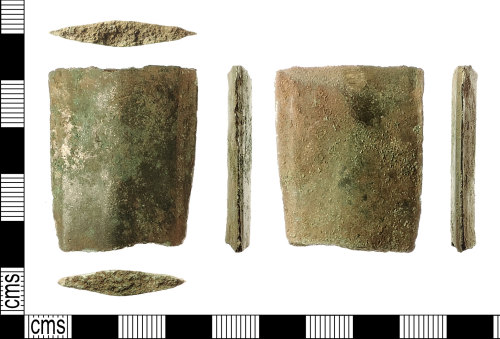 A resized image of Bronze Age Sword Blade Fragment. Treasure case no. 2015 T64-41