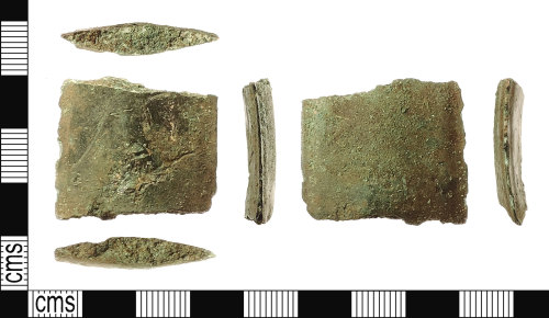 A resized image of Bronze Age Sword Blade Fragment. Treasure case no. 2015 T64-42