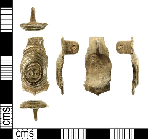 IOW-B26F91: Anglo-Saxon (Early-Medieval) Small Square-headed Brooch. Treasure case no. 2017 T1153