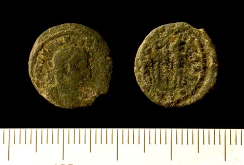 IOW-420D73: Nummus of the House of Constantine, probably Constantine II