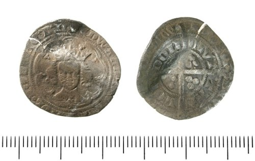 IOW-E964F3: Groat of Edward III. Fourth Coinage. Pre-treaty series D. North 1152 (1352-53).
