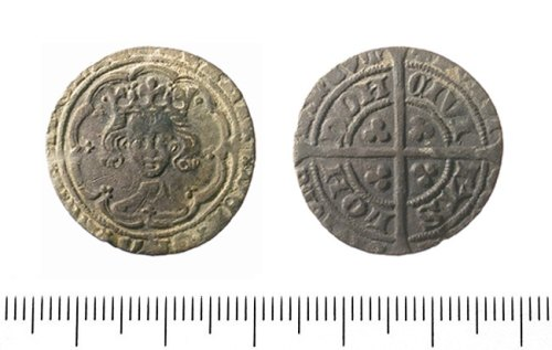 IOW-E9BE72: Groat of Henry IV, Light Coinage, type 1. North 1358 (1412-13).
