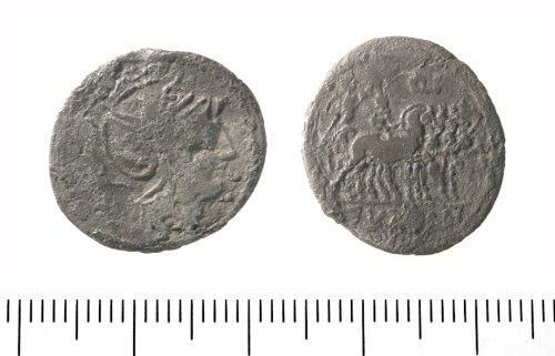IOW-3FF064: Roman Republican denarius of the moneyer C Fundanius. RRC (Crawford) 326/1; Sear 204 (101 BC).