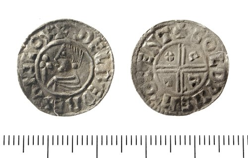 IOW-06FDA1: Early Medieval Coin: Penny of Ethelred II.