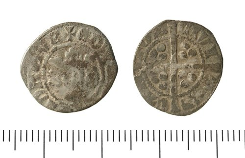 IOW-1F9896: Penny of Edward II. North 1060, class 11a (1310-14).