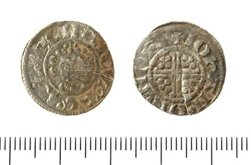 IOW-5827D5: Medieval Coin: Penny of John.