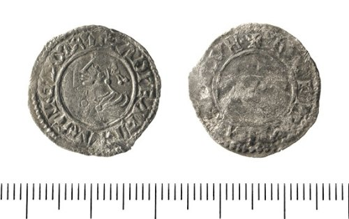 IOW-C6FCE0: Early Medieval Coin: Penny of Edward the Martyr.