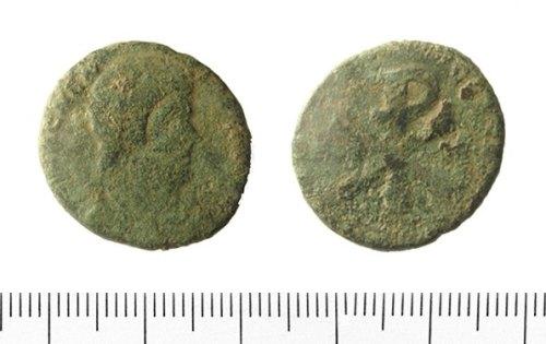 IOW-4D6114: Roman Coin: Nummus of Magnentius.