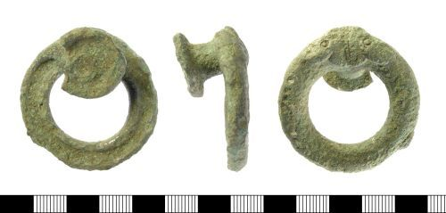 IOW-C3C8A6: Late Iron Age Studded Sword-Belt Ring.