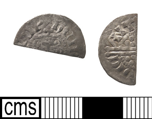 IOW-E57122: Medieval Coin: Cut Halfpenny of Henry III