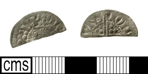 IOW-0B5A85: Medieval Coin: Cut Halfpenny of Henry III