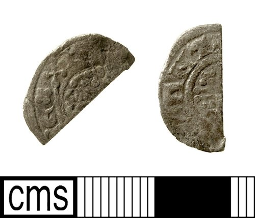 IOW-0BC4E4: Medieval Coin: Cut Halfpenny of Henry III