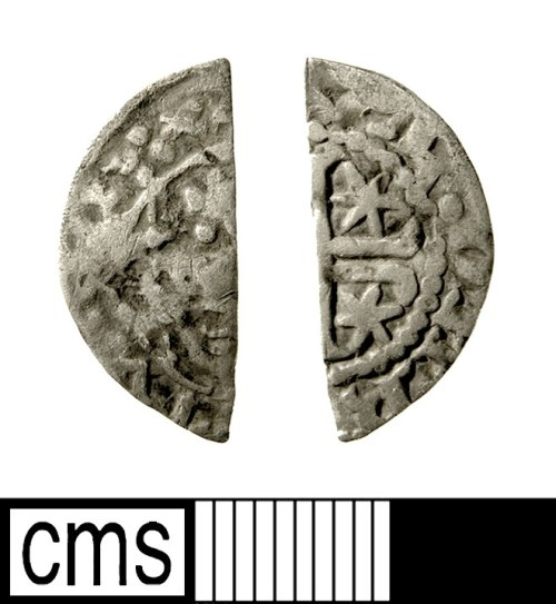 IOW-5E2671: Medieval Coin: Scottish Cut Halfpenny (possibly of William I)
