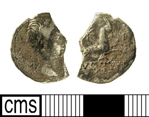 A resized image of Roman Coin: Denarius of Augustus