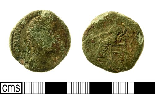 IOW-AA66B1: Roman Coin: Sestertius of Commodus