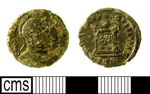 IOW-95F7F1: Roman Coin: Nummus of Constantine I