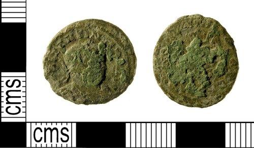 IOW-4D4CA6: Roman Coin: Nummus of Constantine I