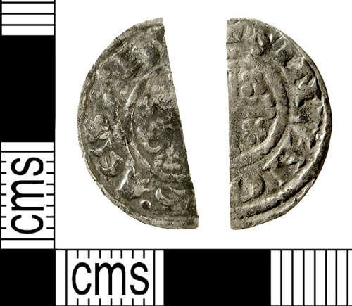 IOW-403C20: Medieval Coin: Cut Halfpenny of Henry III